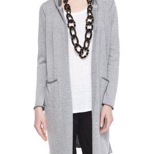 Eileen Fisher Organic Cotton Hooded Long Cardigan